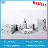 6 PCS Set Printed Ceramic Bathroom