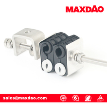 two hole fiber power wall cable clamp