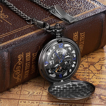 OUYAWEI Classical Automatic Mechanical 3ATM Waterproof Antique Pocket Watches