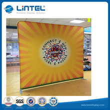 Trade show durable pop up fabric display aluminum backdrop stand