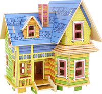 flying house model DIY Kids assemble toy