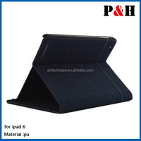 New arrival wallet leather case for ipad 6 and for apple ipad air 2 case