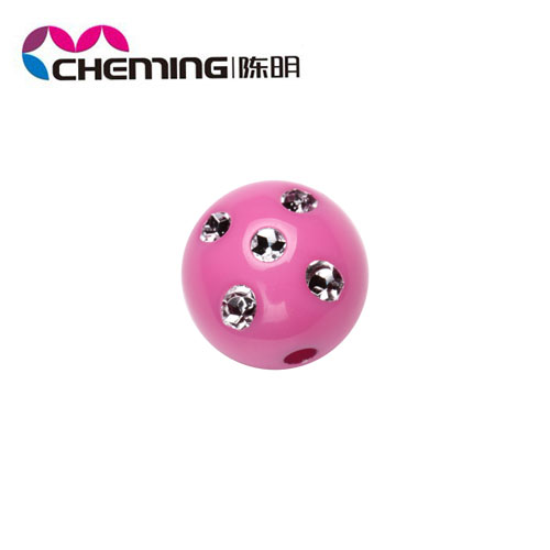 25mm hot sale colorful acrylic round bead large size jewelry