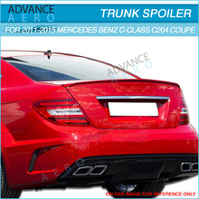 For Fit 2011-2015 MercedeBenz C-Class C204 Coupe 2Dr Unpainted ABS Rear Trunk Spoiler