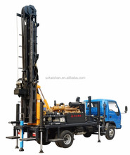 truck mounted portable borehole water well drilling rig machine