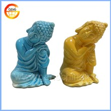 Home decorative religious buddha statues, ceramic buddha