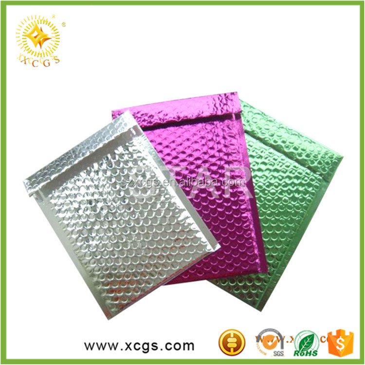 Hot Sale Shiny Metallic Holographic Padded Bubble Envelopes Mailing Bags For Various Sizes