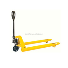 High quality 3 ton alloy steel hand pallet trucks scale with rubber wheel