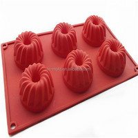 flower shape donut silicon pastry mold / tray