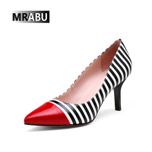 High heel Zebra printed Women shoe Sexy lady shoes Pointed toe Wholesale Low price