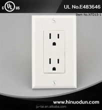 UL Approval attractive style multi-function double fad wall switch outlet