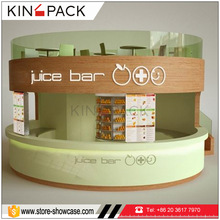 Indoor modern juice bar kiosk design with juice bar counter for sale
