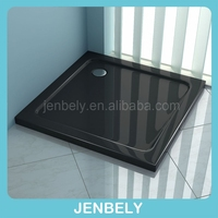 Black square high grade ABS shower base