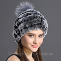 CX-C-78CSoft Wear Winter Unisex Genuine Rabbit Fur Russian Hat