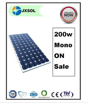 TUV/ISO/CE top quality and low price mono 200w solar panel with 25 years performance guarantee