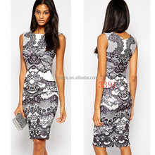 C21337B Summer Sleeveless Tribal Print Fashion Dresses