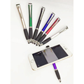 4 in 1 pen with clear screen/holder/stylus customs logo multifunctional plastic pen
