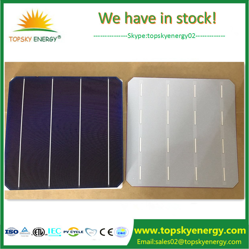 Green energy power solar system home using solar lighting kit use good quality high efficiency 4 BB mono crystalline solar cell