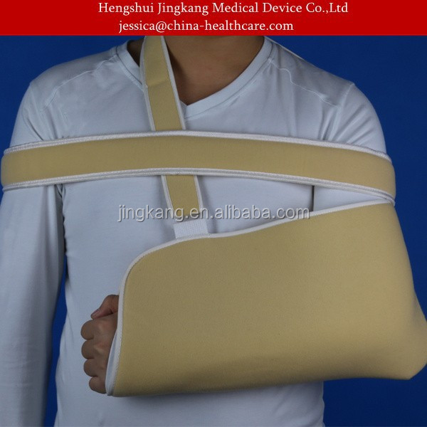 Yellow Arm Sling for fracture upper limbs / immobilizing arm brace / broken forearm arm sling