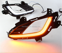 DLAND 2014 ELANTRA SPECIAL LED DAYTIME RUNNING LIGHT FOG LAMP DRL V1, WITH YELLOW TURN SIGNAL, FOR HYUNDAI