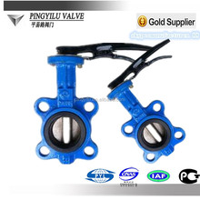 Ductile iron dn 150 wafer butterfly valve handles and gearbox