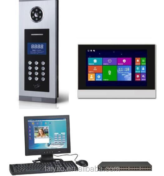 Best selling building Touch screen IP video door phone with home automation fuction