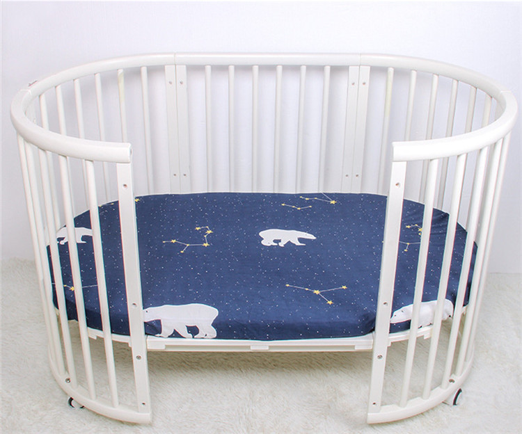 Breathable and comfortable baby bed sheets high quality baby girl crib bedding set