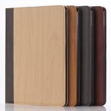 For iPad Air Case,for iPad 5 Wooden Pattern Leather Cover with Card Slots