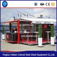 prefab shipping container cafe coffee club hydraulic opening espresso sunshine coast