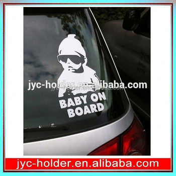 T0C006 baby on board sign with suction cup,cars stickers design,accessories for car