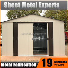 Low cost industrial steel shed designs color steel poultry garden storage shed