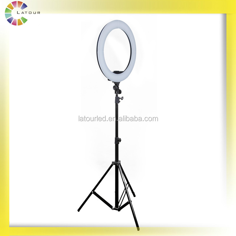 Bi color 55w makeup studio lighting ring light led photography for video shooting light HD-18S