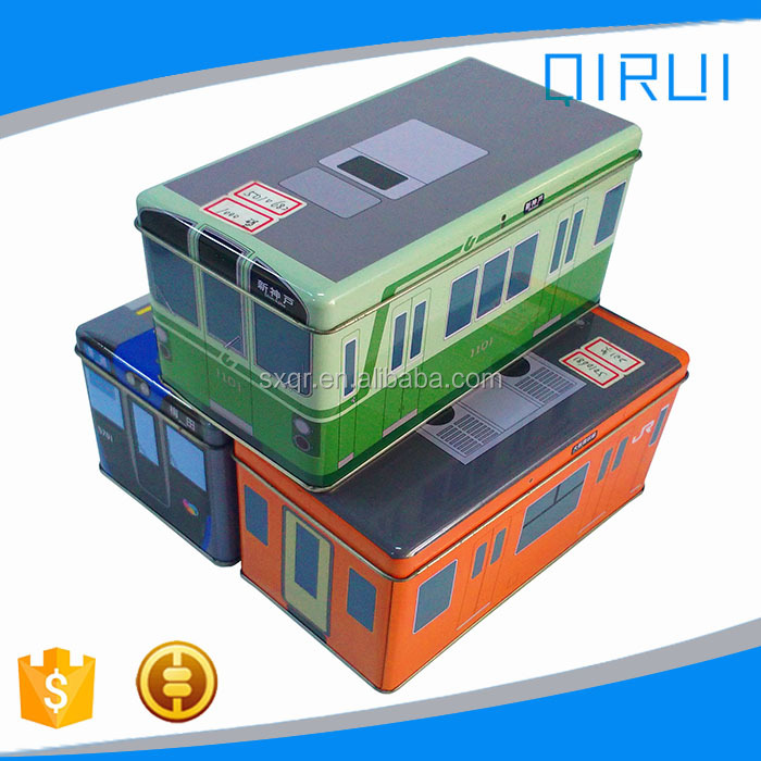 Wholesale bus shape tin box for child in stock