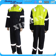 Clothing suppliers make to order EN standard fr cotton safty flame resistant fireman Coal overalls for coal field