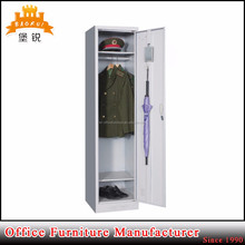 hanging rod & shelves and leg design army clothes cabinet military 1 single door wall steel locker
