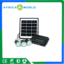 2017 AFRICAWORLD Hotsale 4W Solar Panel Lighting System For Home, 4000MAH Solar Power Lighting Kit
