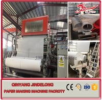High quality tissue toilet paper making machinery recycling waste paper production line