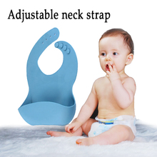 New design Soft Infant Food grade Easily Wipes Clean Waterproof Silicone Baby Bib