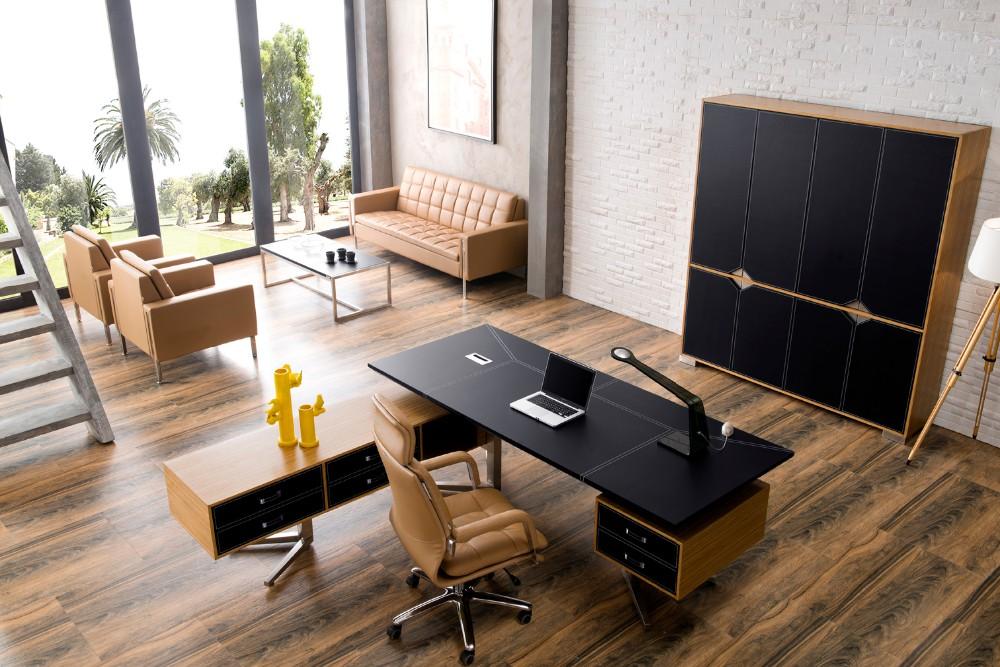 Nouveau design mdf de luxe table en bois modulaire mobilier de
