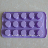 100% food grade silicone 15 holes silicone ice mold small ice making mold