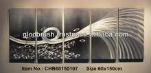 2014 Modern Metal Wall Aluminum Sculpture 3d Wall Art Panels Abstract Metal Crafts for Home Decoration