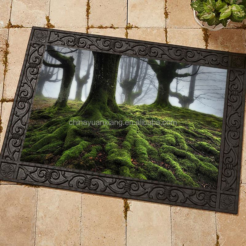 Digital Printed Picture Photo Real Rubber Floor Mat
