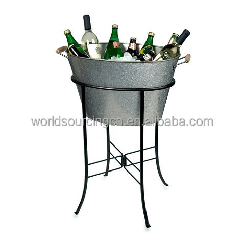 Popular Design Oasis Galvanized Steel Oval Party Tub With Stand
