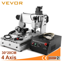 VEVOR Updated New 4 axis cnc router 3020 USB Router Engraver/Engraving Drilling and Milling Machine 4 Four Axis