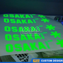 cheap custom matt glossy permanent solid color flsorescence uv protection logo three layers die laser cut 3M vinyl sticker