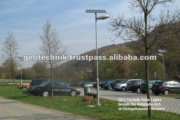 Solar LED Double Arm Street Light Egypt 2* 100W made in Germany