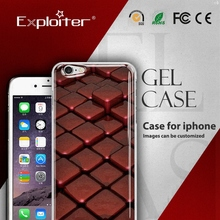 Exploiter custom cellphone cover for apple cover clear hard
