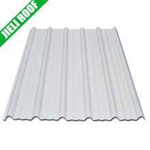 excellent impact resistance 3 layer upvc white color corrugated plastic roofing sheets