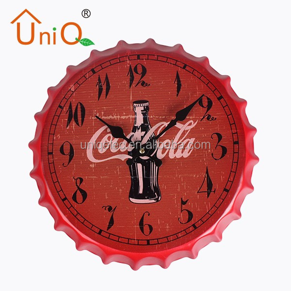M1406 cola cap shape decorative wall clock