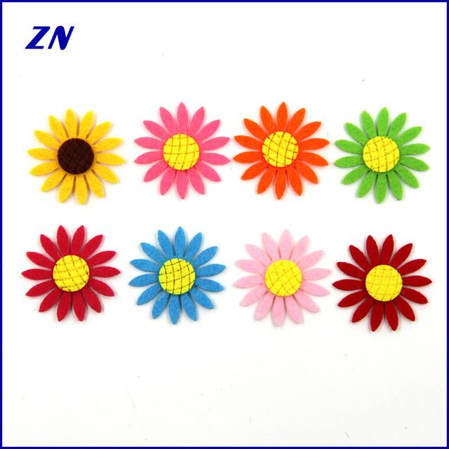 ZN wholesale 8 colors sunflower accessories DIY felt hair accessories